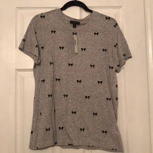 JCrew bow tee shirt
